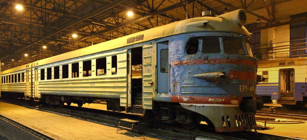 Triebwagen von 1959. 2013 vom Dienst genommen.