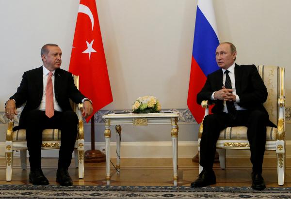 Эрдоган рассчитывает вместе сПутиным добиться расширения сотрудничества Российской Федерации иТурции