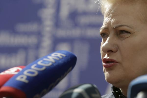 """Грибаускайте в Давосе назвала Россию """"голодным и обозленным соседом"""""""