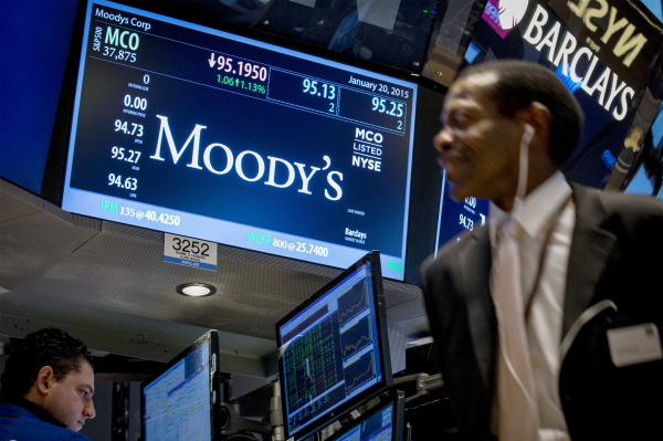 Moody's пересмотрело свой прогноз по росту ВВП Китая