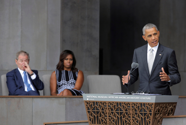 Обама открыл афроамериканский музей вВашингтоне