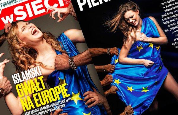 """Польский журнал назвал миграционную политику ЕС """"изнасилованием Европы"""""""