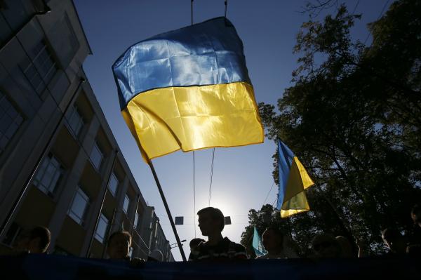 Протестующие собрались у здания Верховной рады в Киеве