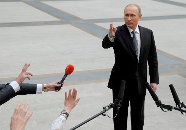 Путин впервый раз за 4 года принял участие всъездеЕР