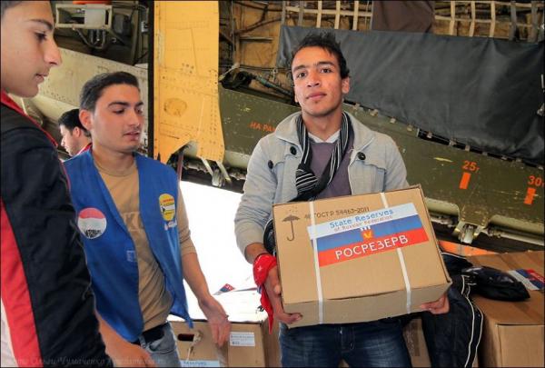 Российская гуманитарная помощь в провинцию Хама стала рекордной по объёму