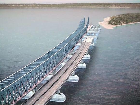 Спецсооружения построят на Керченском мосту для защиты от столкновений с судами