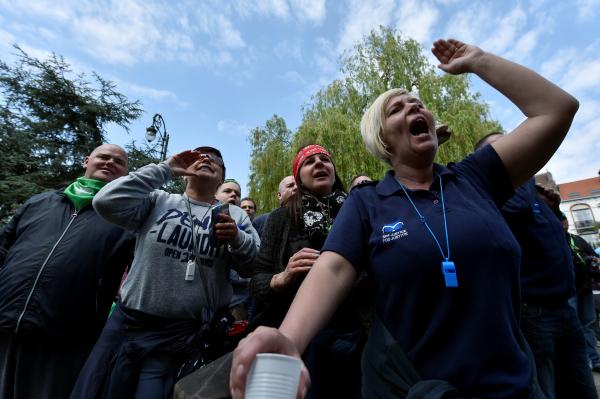 ВБельгии всеобщая забастовка привела кобразованию пробки в280км