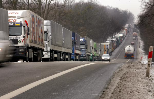 Украинские горняки перекрыли таможенный пункт на границе с Польшей