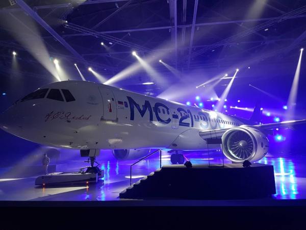 В Иркутске представили новейший пассажирский лайнер МС-21