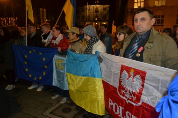В Варшаве отметили годовщину Евромайдана на Украине