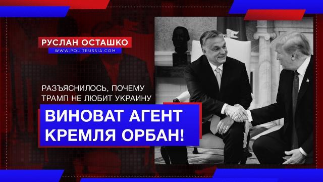 Почему Трамп не любит Украину? Виноват агент Кремля Орбан! (Руслан Осташко)